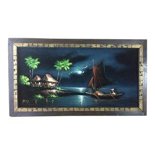 Tiki Black Velvet Painting