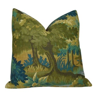 Verdure Print Linen Pillow Cover