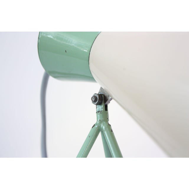 White Mint Green Tripod Table Lamp by Josef Hurka for Napako For Sale - Image 8 of 13