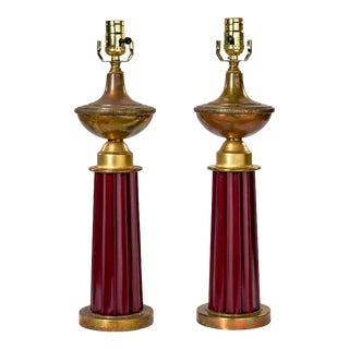 Art Deco Table Lamps - a Pair For Sale