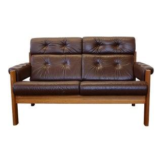 Original Ekornes Stressless Two-Seat Amigo Leather Loveseat For Sale