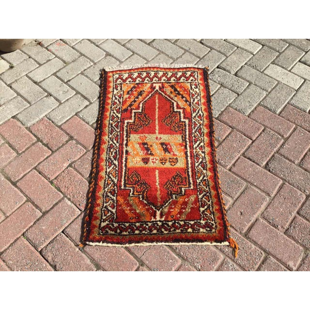Red Vintage Anatolian Area Rug For Sale - Image 8 of 8