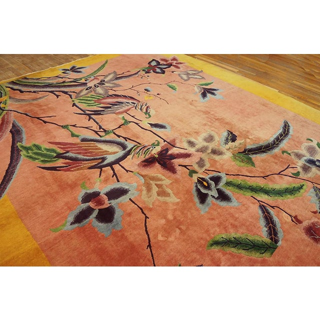 "1920s 1920s Chinese Art Deco Rug - 8'9""x11'6"" For Sale - Image 5 of 7"