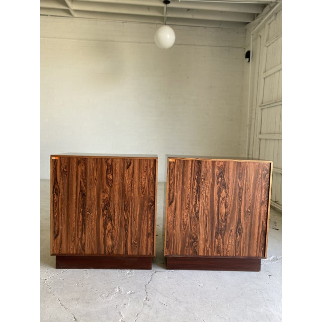 Wood 1960s Westnofa Brazilian Rosewood Highboy Dressers-a Pair For Sale - Image 7 of 11