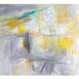 """Image of """"Manhattan Morning"""" by Trixie Pitts Large Abstract Expressionist Oil Painting For Sale"""