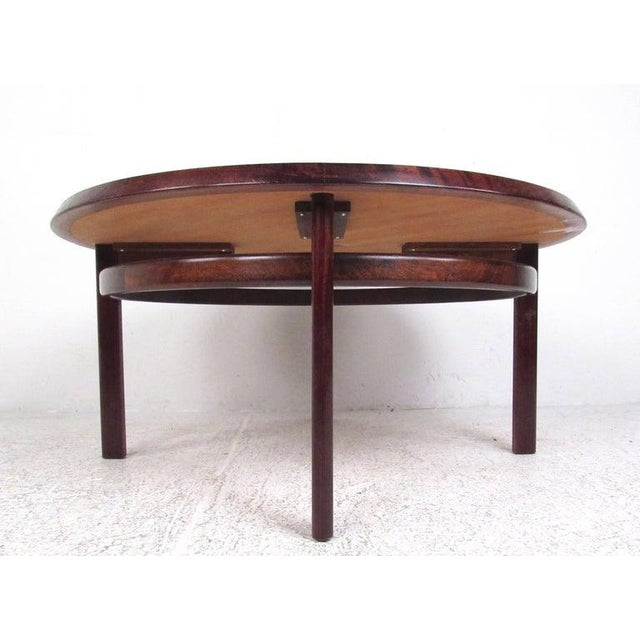 1970s Vintage Scandinavian Rosewood Coffee Table by Haug Snekkeri for Bruksbo For Sale - Image 5 of 13