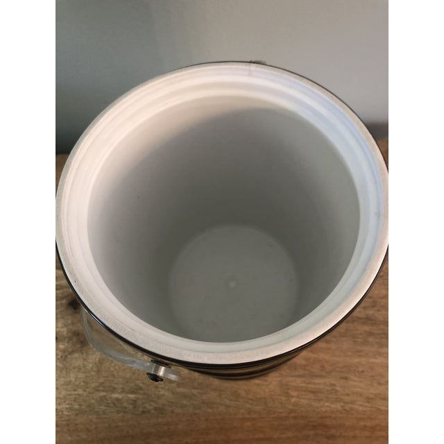 Metal Georges Briard Mid Century Gold Lucite Ice Bucket For Sale - Image 7 of 9