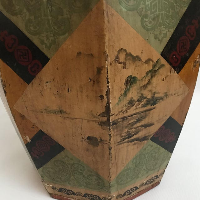 Chinese Octagonal Barrel & Lid For Sale - Image 10 of 11