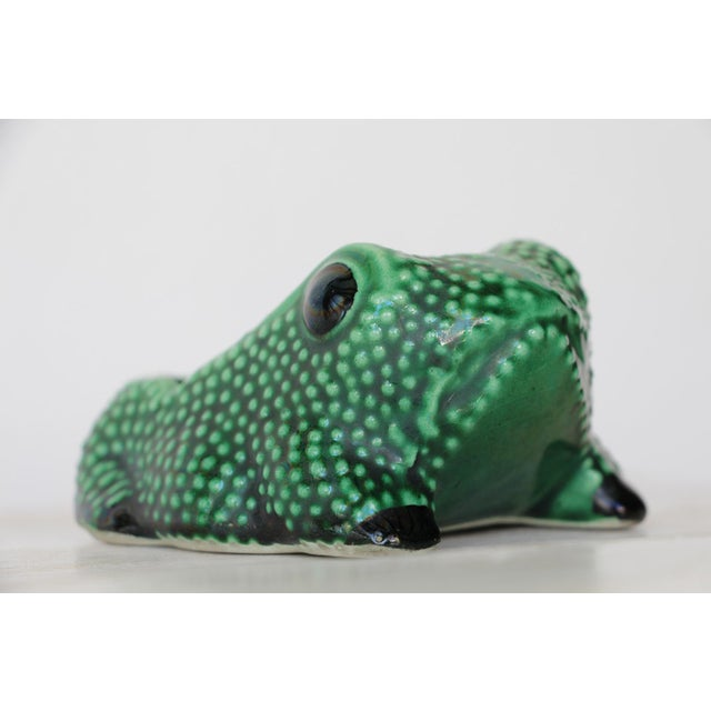 Asian Chinese Vintage Hobnail Frog Planter in the Style of Jean Roger For Sale - Image 3 of 13