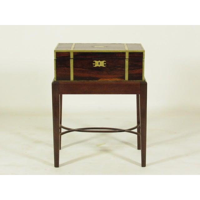 Hollywood Regency 19th Century Regency Lap Desk on Stand For Sale - Image 3 of 11