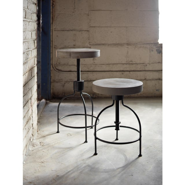 Concrete Screwy Stool in Dark Gray For Sale - Image 7 of 8