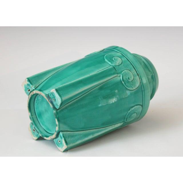 1920s Awaji Pottery Japanese Art Deco Rocket Form Vase For Sale - Image 5 of 11