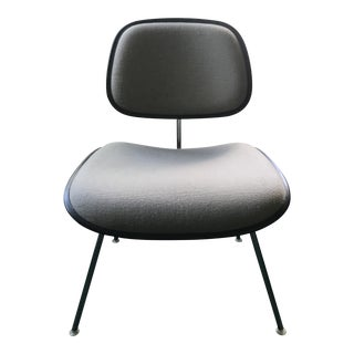 Vintage Charles Eames Gray Fabric Herman Miller Dcm Chair For Sale