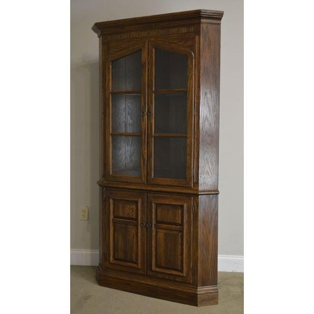 Ethan Allen Royal Charter Oak Corner Cabinet For Sale - Image 12 of 13