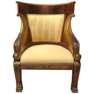 French Empire Style Mahogany Armchair, 19th Century For Sale