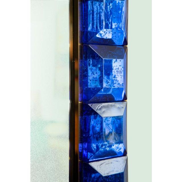 Contemporary Contemporary Blue Diamond Murano Glass Mirror For Sale - Image 3 of 8