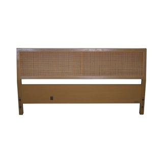 Sligh Cross Country Collection Mid-Century Modern Full Size Cane Headboard For Sale