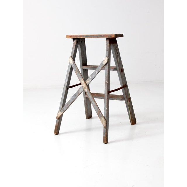 Vintage Wooden Step Ladder For Sale - Image 6 of 12