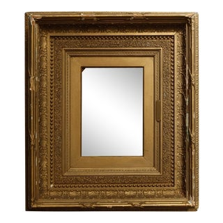 Antique 19th Century French First Finish Giltwood Art Frame with Ginkgo Leaves For Sale