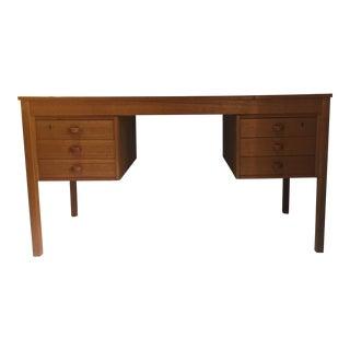 1950s Danish Modern Teak Writing Desk For Sale