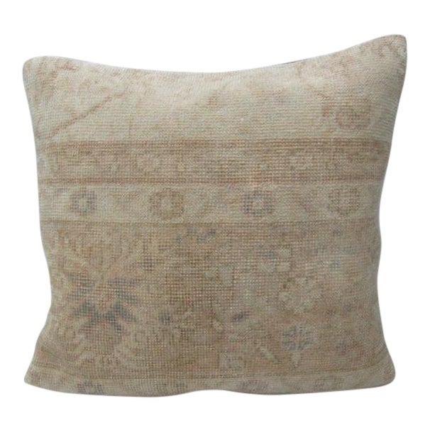 Vintage Turkish Decorative Floral Handmade Pillow For Sale