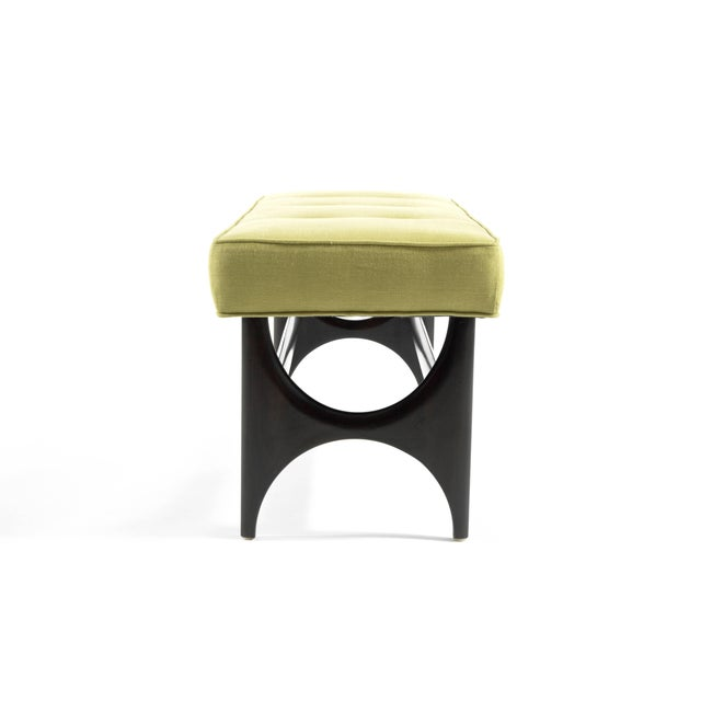 DC Sculptural Walnut Bench For Sale - Image 4 of 8