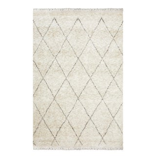 Shaggy Moroccan, Hand-Knotted Area Rug - 5 X 8 For Sale