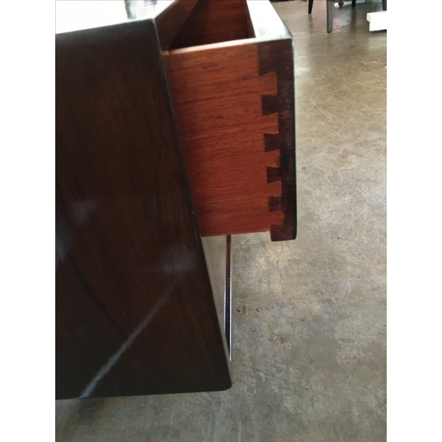 Mid Century Modern Argentine Manner of Jean Michel Frank by Comte Walnut Low Sideboard / Credenza - Image 8 of 10