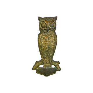 Solid Brass Owl Doorstop For Sale
