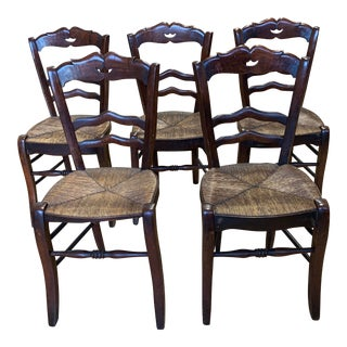 19th Century French Country Side Chairs - Set of Five For Sale