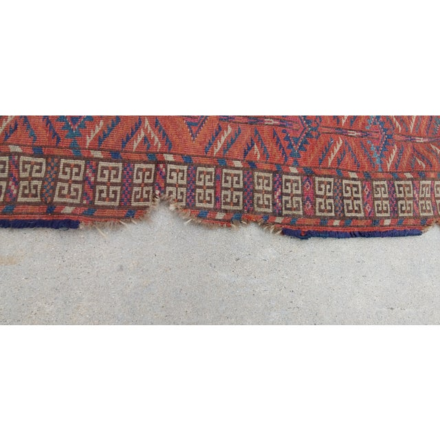 "Vintage Turkoman Tekke Rug-3'11'x5"" For Sale In Los Angeles - Image 6 of 12"