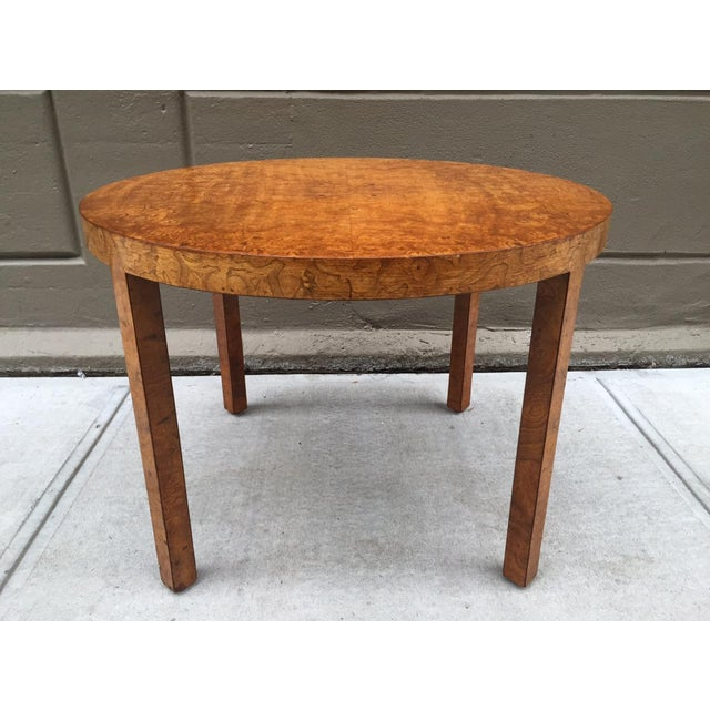 Wood Art Deco Burl Wood Table For Sale - Image 7 of 7