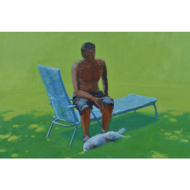 """""""Resting in the Shade"""", Stephen Remick Contemporary Painting For Sale In Providence - Image 6 of 13"""