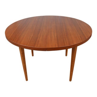 Mid Century Walnut and Oak Dining Table For Sale