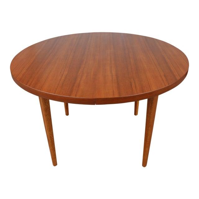 Mid Century Walnut And Oak Dining Table Chairish - Mid century oak dining table