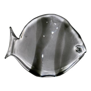 Vintage Glass Fish Sculpture Attributed to Archimede Seguso For Sale