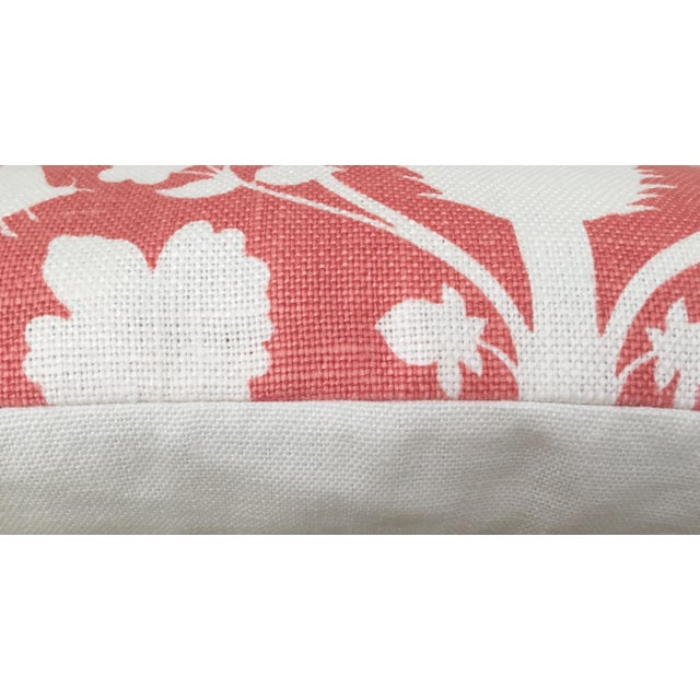 Schumacher Schumacher Chenonceau Lumbar Pillow in Coral Pillow Cover, 14x24 For Sale - Image 4 of 6