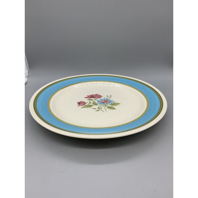 Boho Chic Japan's Blue Lagoon Chop Plate For Sale - Image 3 of 9