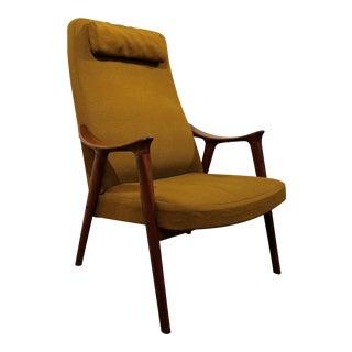 Mid-Century Danish Modern Folke Ohlsson Style Teak Lounge Chair