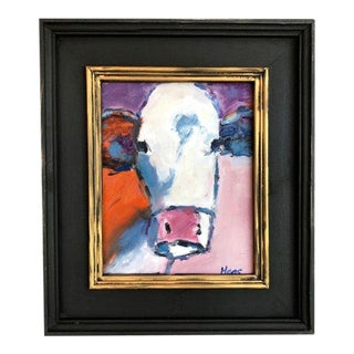 Annabelle Cow Oil Painting For Sale