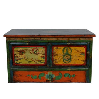 Antique Tibetan Altar Prayer Coffee Table For Sale