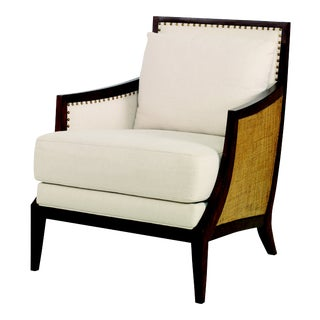 Century Furniture Chesapeake Lounge Chair, Sand and Flax For Sale