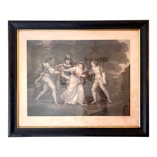 "18th Century English Engraving From Shakespeare's ""Two Gentlemen of Verona"" For Sale"