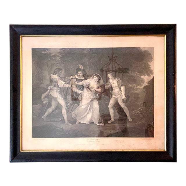 """18th Century English Engraving From Shakespeare's """"Two Gentlemen of Verona"""" For Sale"""