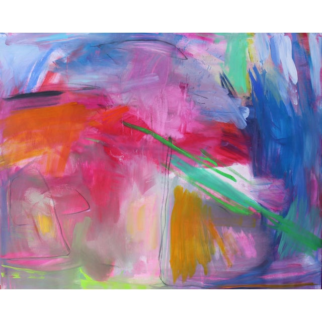 """""""Uluru"""" by Trixie Pitts Extra-Large Abstract Landscape Painting For Sale - Image 10 of 11"""