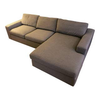 Contemporary Room and Board Harding Sectional Sofa with L-Shape Chaise