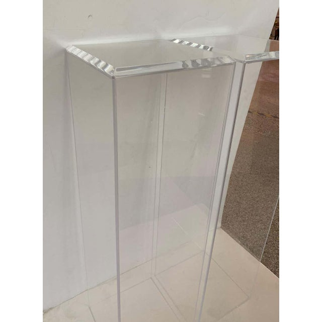 """Early 21st Century 42"""" Lucite Pedestals Floor Samples bySnob Galeries - a Pair For Sale - Image 5 of 13"""
