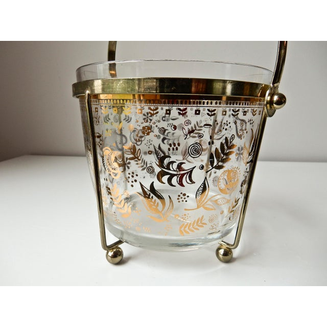 Georges Briard Glass 24K Gold Ice Bucket - Image 7 of 7