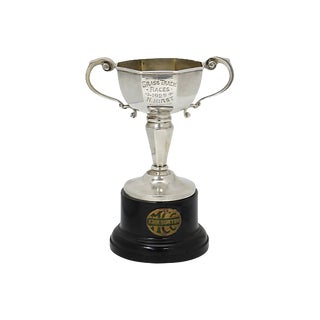 1929 Horse Race Sterling Silver Trophy For Sale