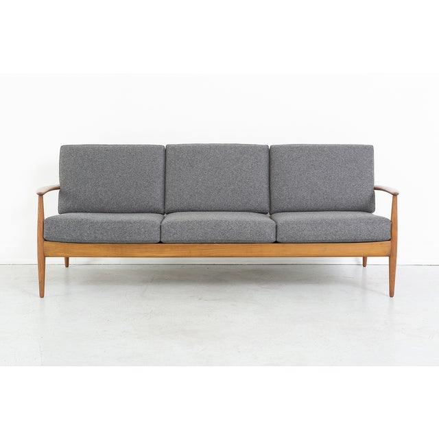Grete Jalk for France + Daverkosen Teak Wood Sofa
